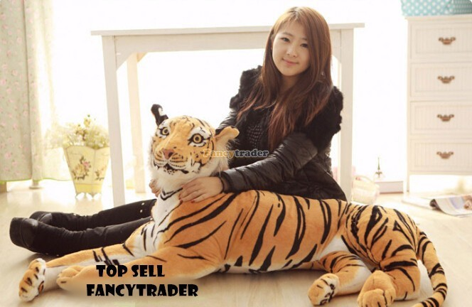 Fancytrader 51\'\'  130cm Giant Stuffed Emulational Tiger, 2 Colors Available, Free Shipping FT90241 (2)