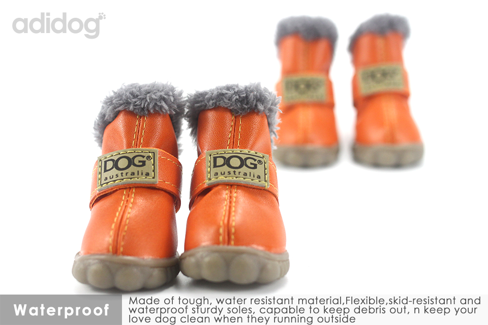 Pet Dog Shoes Winter Super Warm 4pcs set Dogs Boots Cotton Anti Slip XS 2XL Shoes for Small Pet Product ChiHuaHua Waterproof 307