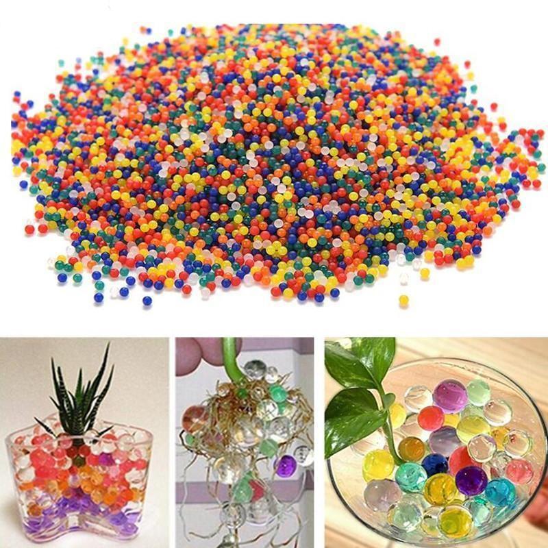 JIMITU 10000pcs/bag Crystal Soil Hydrogel Gel Polymer Orbiz Water Beads Flower/Wedding/Decoration Maison Growing Water Balls-in Toy Balls from Toys & Hobbies