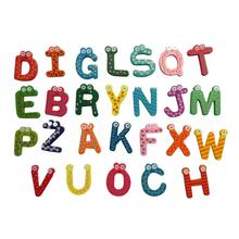 26 Letters Wooden Cartoon Fridge Magnet kid Baby Educational Toy Drop shipping 17Sep18