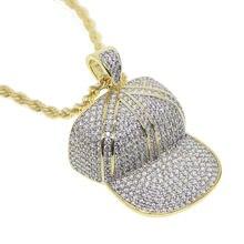 Мужское ожерелье с подвеской в стиле хип хоп латунная цепочка
