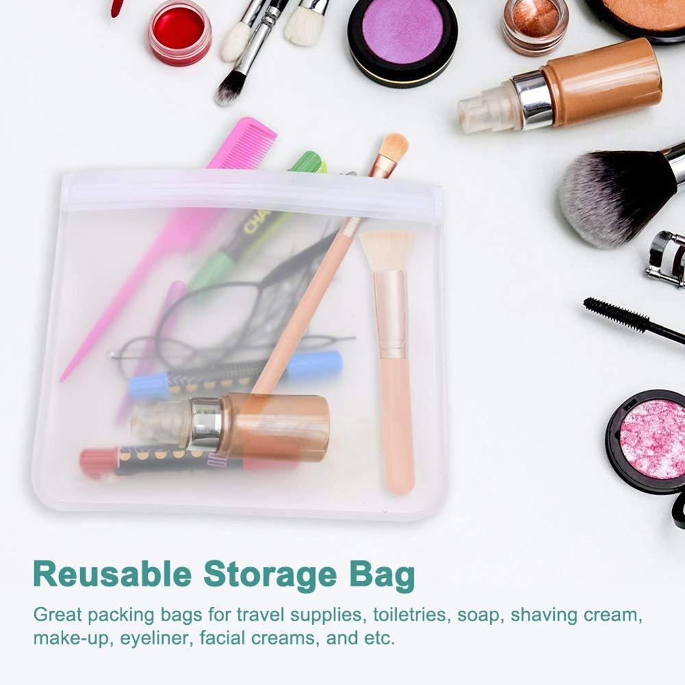 Image 5 - 5Pcs/lot EVA Freezing Bags Reusable Food Storage Bags Leakproof Ziplock Bags Resealable Sandwich Bag For Lunch Food Snack Makeup-in Saran Wrap & Plastic Bags from Home & Garden