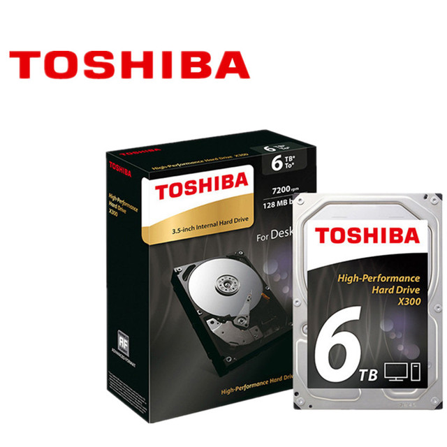 "Toshiba 6TB  Mechanical Desktop Hard Disk Drive HDD HD HDWE160 128MB Cache 7200RPM 3.5"" SATA3 X300"