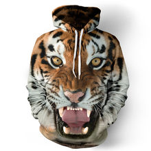 Men/Women Hooded College Jacket 3d Print Tiger Men Sweatshirt Long Sleeve Cap lovely
