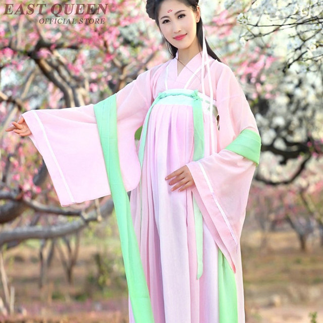 96c941072 Chinese folk dance costume clothing hanfu ancient fan dance traditional  Chinese dance costumes Stage dance wear FF751