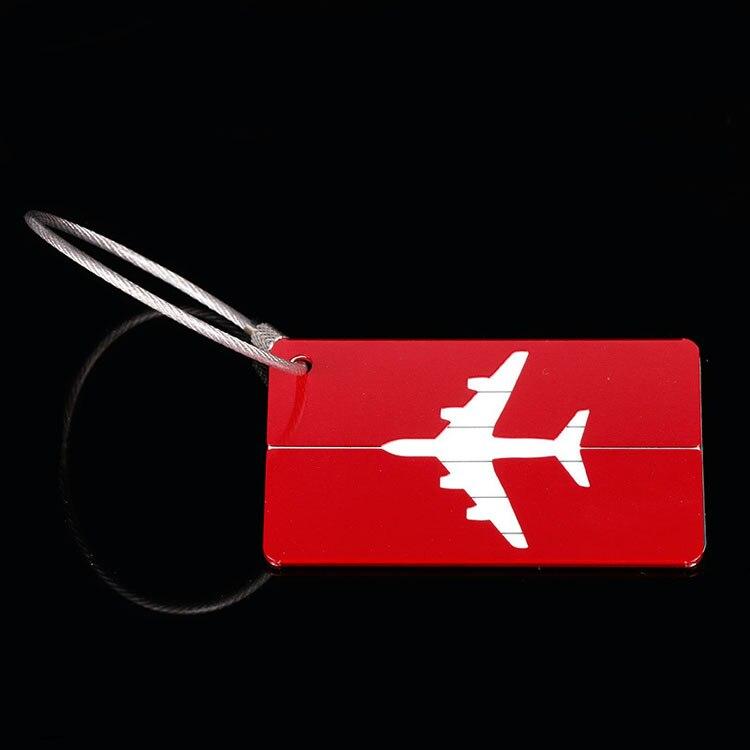 OKOKC багажные бирки из алюминиевого сплава, багажные бирки, ярлыки для багажа, аксессуары для путешествий - Цвет: Red