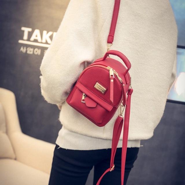 new women bag Mini backpacks for girls back bag women PU leather Small pretty shoulder bag feminine backpack bolsas femininas