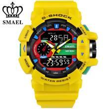 Marca de lujo de los hombres relojes deportivos reloj s-shock smael relogio masculino para hombre de cuarzo relojes de pulsera 50 m resistente al agua reloj,