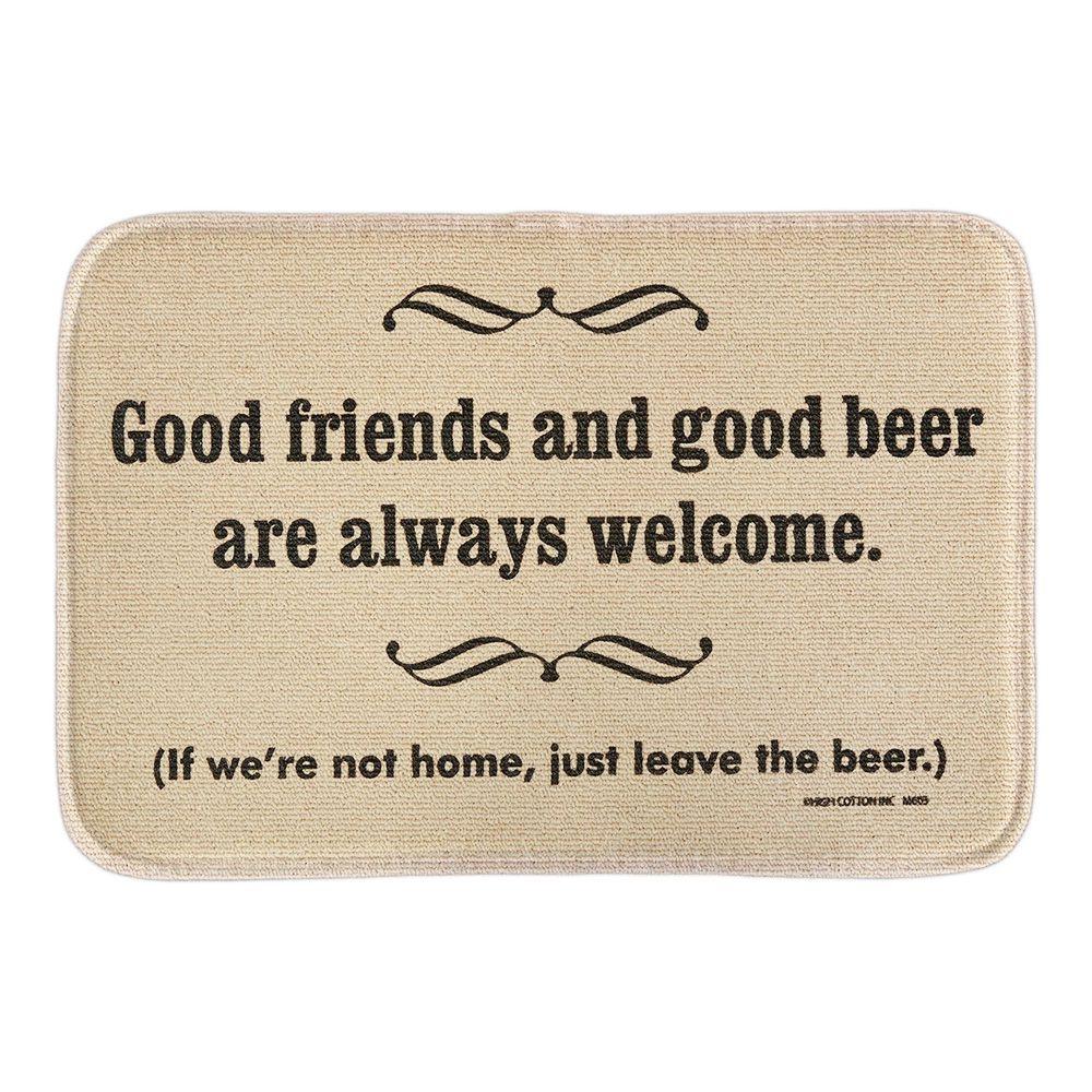 High Cotton Welcome Doormat Good Friends Good Beer Decor Door Mats Soft Lightness Short Plush Fabric  Bathroom Rug Floor Mats