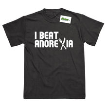 I Beat Anorexia Printed T-Shirt Summer Style Tees Male Harajuku Top Fitness Brand Clothing Tops Tshirt Homme Black