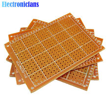 Circuit imprimé universel 50x70mm, 2.54mm, 5 pièces, panneau, simple face, bricolage