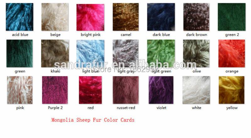 Mongolia Sheep Fur Color Card