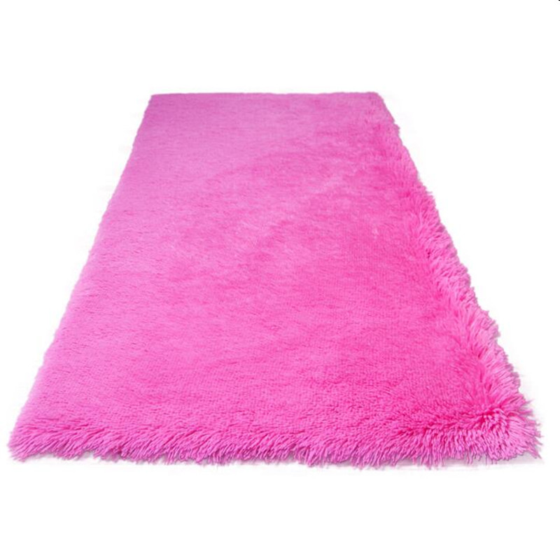 Factory On Sale! Wholesale Long Hair Soft Carpet Wine Red Bedroom Carpet Square Mat Living Room Carpet AnTi Slip Mat Door Rug