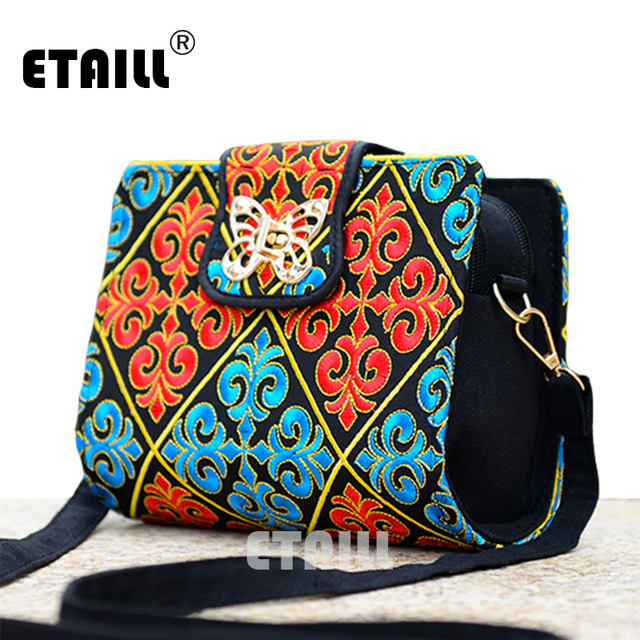Double Side Ethnic Embroidered Sling Bags Embroidery One Shoulder Cross-body Sling Bag 1
