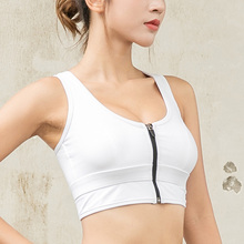 Heal Orange Back Cross Sport Bra Zipper Top Push Up High Impact Sports Wear For Women Gym Women Fitness Bra Running Athletic Bra