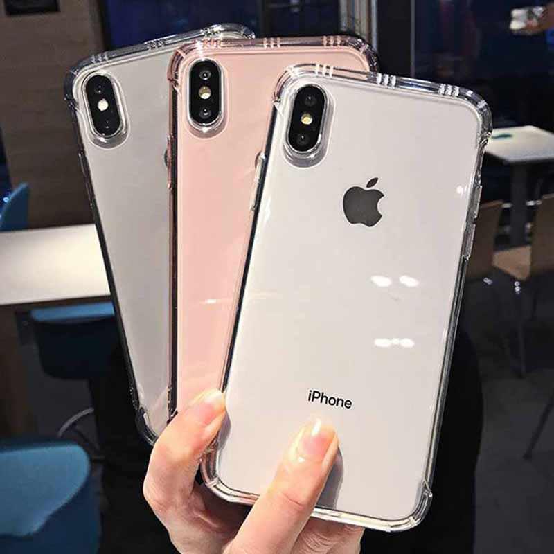 Capa de celular transparente macia, capa de celular à prova de choque para iphone xr xs max x 6 6s 7 8 plus tpu capa para iphone xr xs max 6 7 8 plus