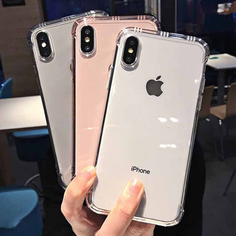 Shockproof Clear Phone Case for iPhone Xr Xs Max X 6 6S 7 8 Plus Soft TPU Transparent Phone Case for iPhone Xr Xs Max 6 7 8 Plus image