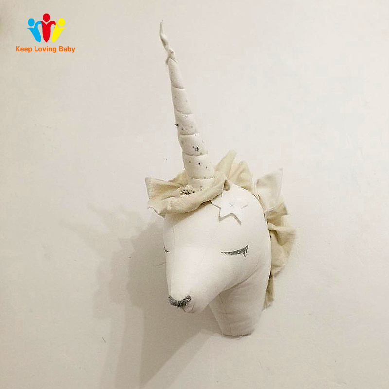 Us 20 72 17 Off Reindeer Unicorn Animals Baby Pillow Kids Room Wall Decorations Nursery Hangings Stuffed Toys Gift Bed Sleep In