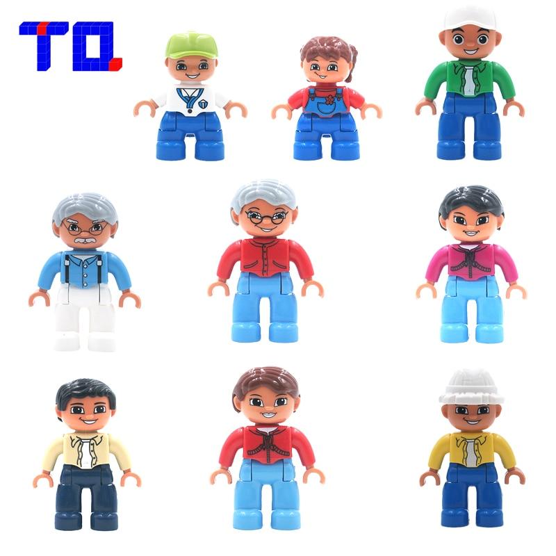 TQ 9 Style City Family Series Figure Large Particle Building Blocks Enlighten Toys Assemble Brick Compatible With Legoe Duplo