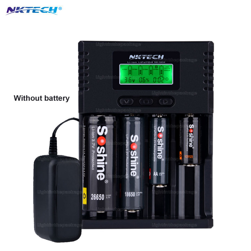 NKTECH H4 18650 Charger Digicharger LCD Display Battery Charger For LI ion 18650 14500 16340 26650