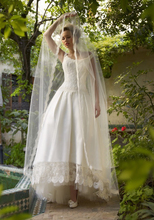 High Low Newest A Line Lace Wedding Gowns 2015 Long Bridal Dresses Elegant Romantic W2047 Robe de Mariage Custom Made Stunning