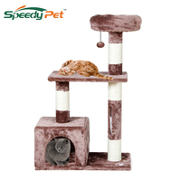 Wholesale Domestic Delivery Cat Toys Swinging The Ball Furniture&Scratchers Cat Tree House Scratch Toy For Pet Kitten Jumping
