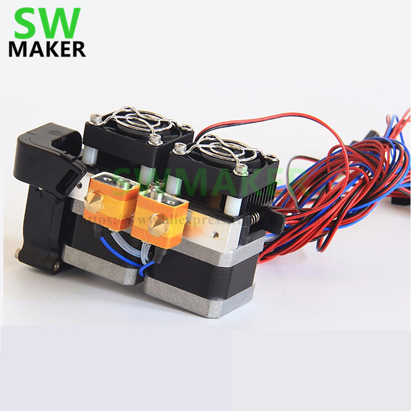 SWMAKER 1.75mm Fully Assembled Dual Extruder for Flashforge Creator/Dreamer 3D Printer цена