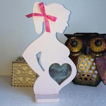 الحوامل القلب خشبية النساء الخشب إطار صور الزفاف طفل صغير إطار صور s 15 سنتيمتر * 26.2 سنتيمتر * 0.9 سنتيمتر