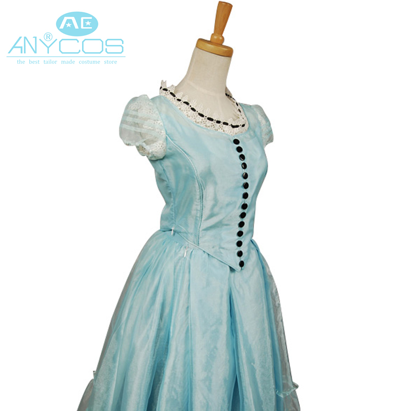 Tim Alice In Wonderland Alice Uniform Blue Dress Halloween Cosplay Costumes For Women Custom Made