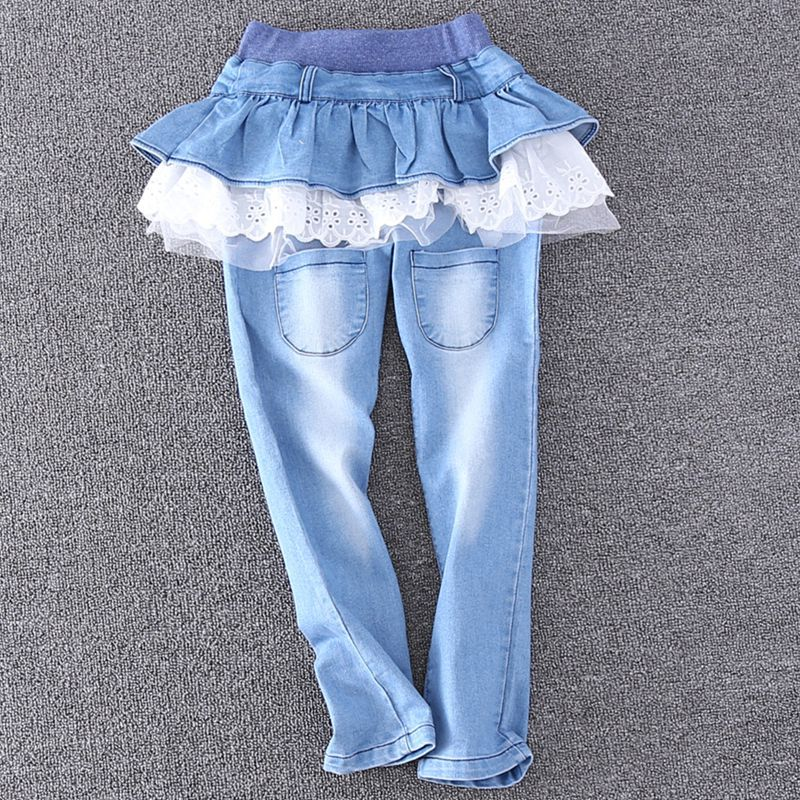 SAMGAMI-BABY-Baby-girls-spring-and-autumn-long-jeans-pants-female-child-lotus-leaf-denim-skirt-pants-legging-Culottes-1