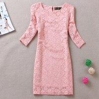 Free Shipping 2014 Spring National Trend Vintage Print Elegant Plus Size One Piece Dress A Basic