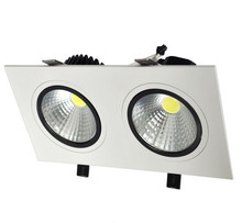 Free shipping Dimmable 14W/20W  Double LED COB Ceiling downlight Recessed 7x2W Cabinet Lamp AC86-265V