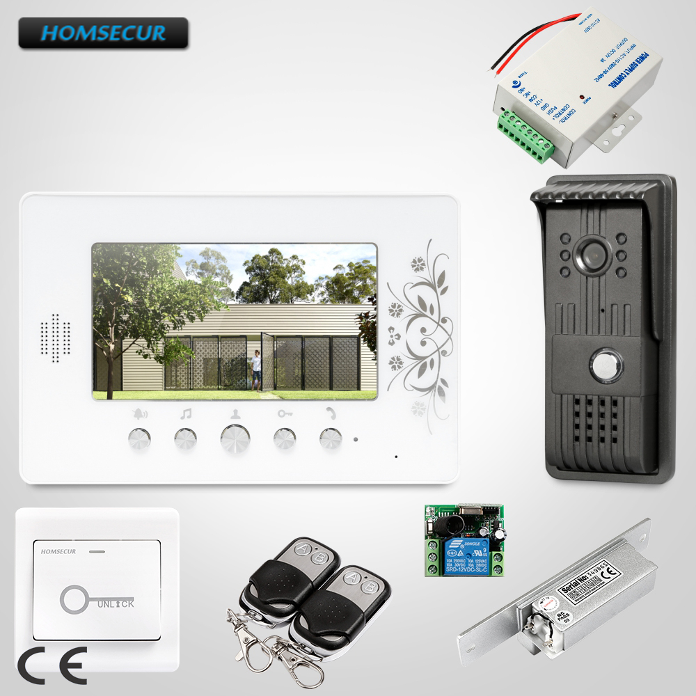 HOMSECUR 7inch Wired Video Door Phone Intercom System Electric Strike Lock Set Included : XC003+XM709 HOMSECUR 7inch Wired Video Door Phone Intercom System Electric Strike Lock Set Included : XC003+XM709