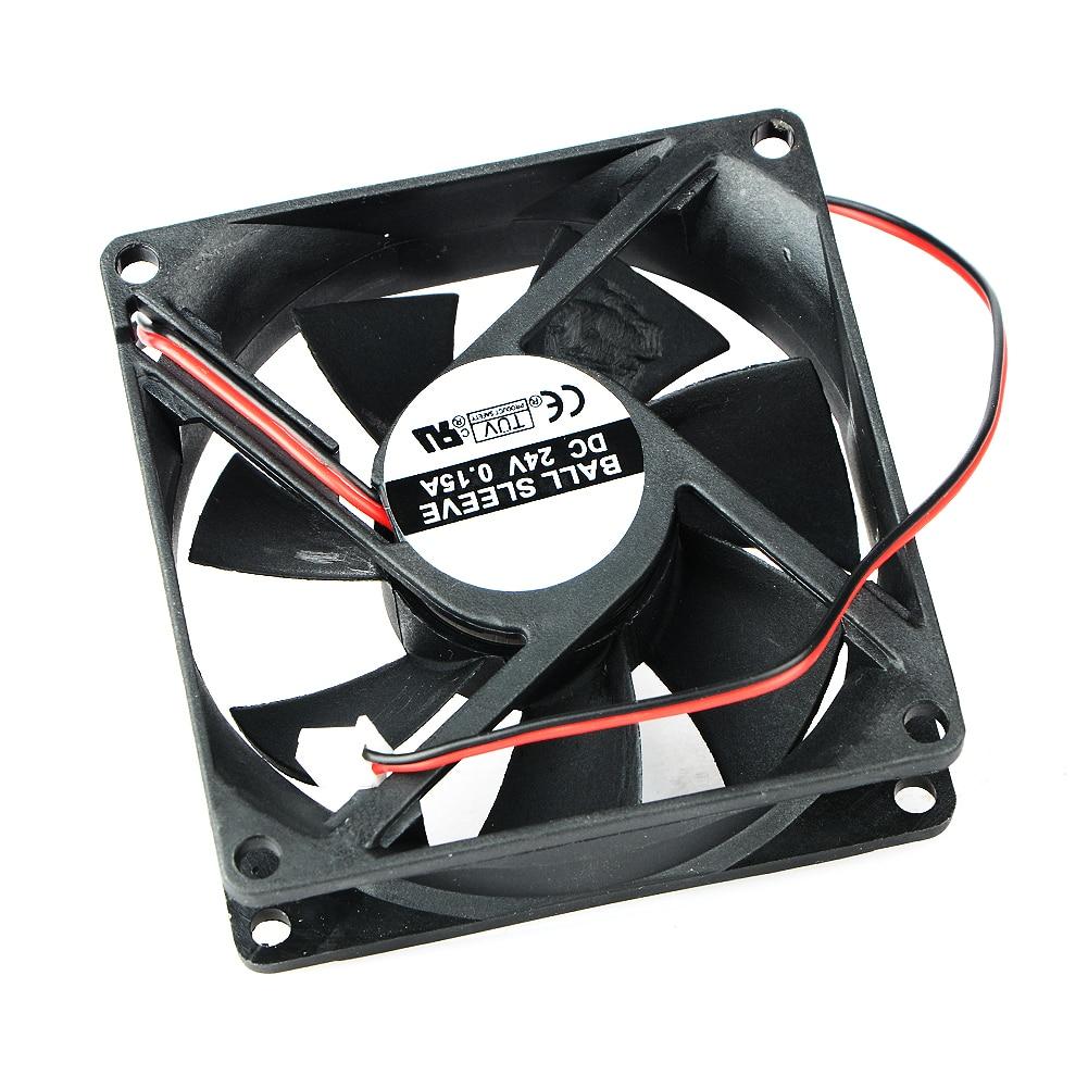 1 Pcs DC Fan 24V 8025 2 Pin 80X80X25mm Brushless DC Cooling Blade Fan