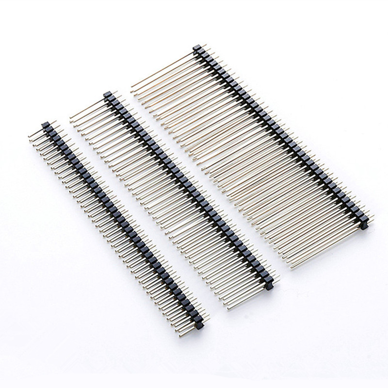 2.54mm double Row Male 2 * 40P Breakaway PCB Board Pin Header Long 11/15/17/19/21/25/30mm Connector Strip Pinheader For Arduino 7 pin 30mm male