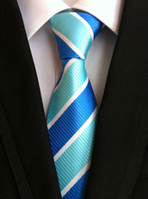 купить new fashion tie mens ties for men vestido silk stripe necktie gravata business dress necktie flower neckwear bow tie male brand  по цене 251.88 рублей
