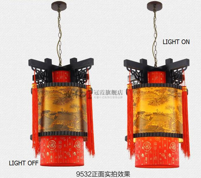 Traditional Chinese lanterns riverside living room bedroom study entrance Dining Room Restaurant balcony lamp pendant light ZH chinese style iron lantern pendant lamps living room lamp tea room art dining lamp lanterns pendant lights za6284 zl36 ym