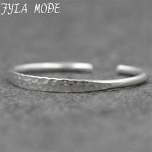 Fyla Mode Thai Silver Retro Silver Bracelet Men Women New Jewelry Fashion Retro High-Quality Bangles 6mm Width 19g PKY279
