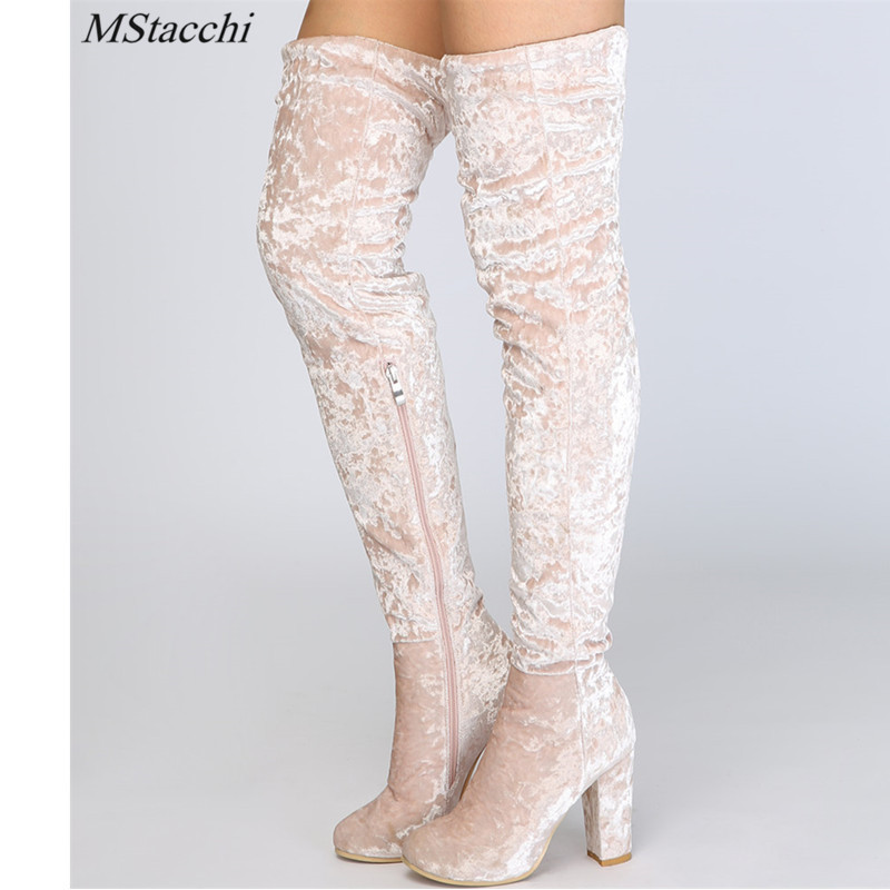 4df8f064d60 Detail Feedback Questions about Mstacchi 2018 New Fashion Over The Knee  Boots Women Shoes Winter Stretch Keep Warm High Heels Long Shoes Femme Sexy  Party ...