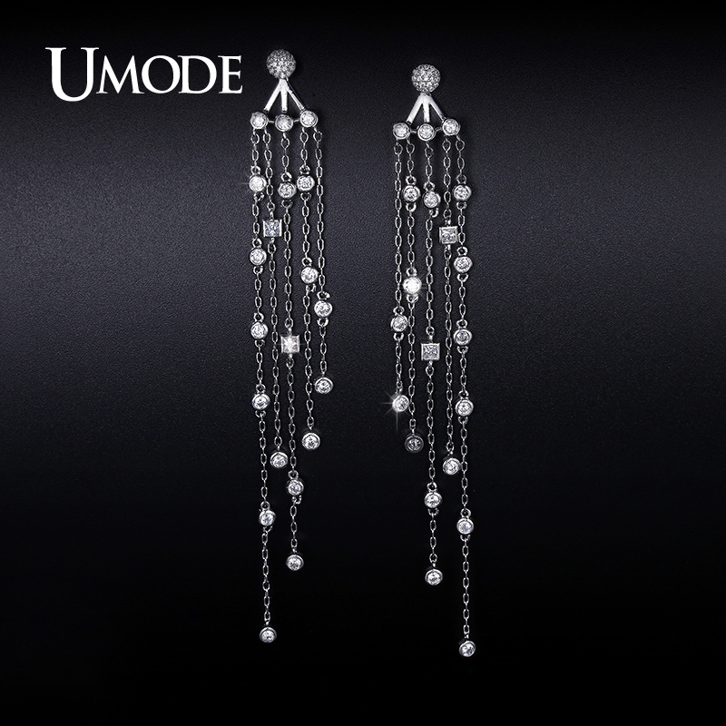 font b UMODE b font 2016 New Arrival Fashion Imitation Diamond Dangle font b Earrings