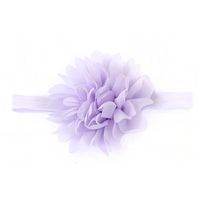 Lovely Baby Girl Elastic Hairband Chiffon Flower Newborn Baby Girl Headbands Baby Hair Band For Kids