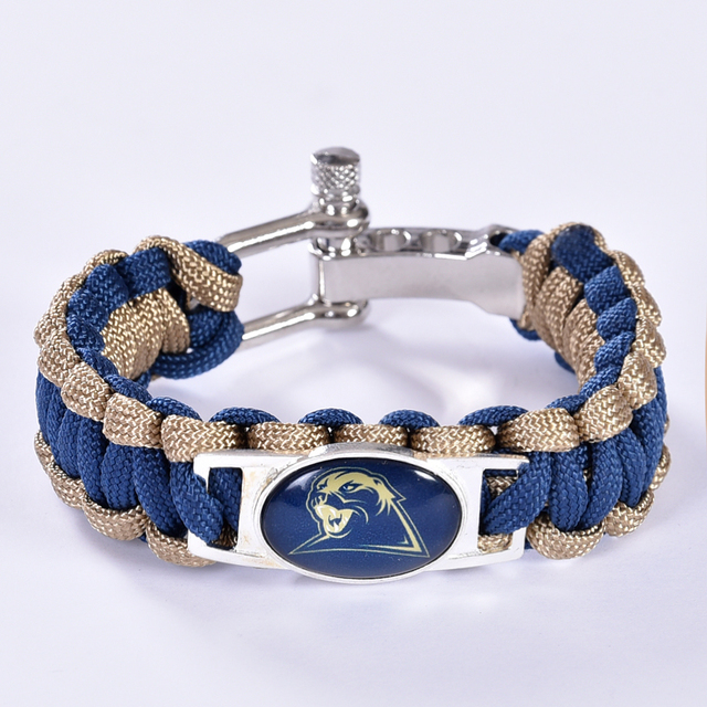 Pittsburgh Panthers Custom Paracord Bracelet Ncaa College Football Charm Survival Drop Shipping