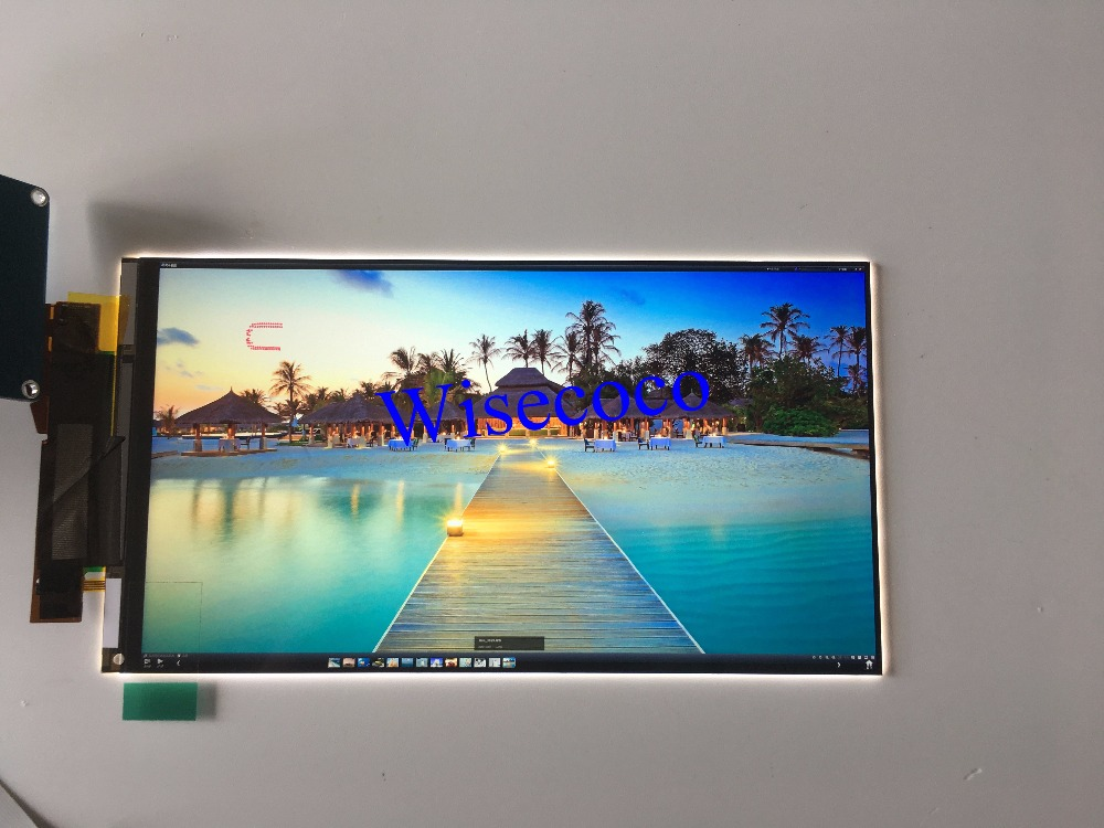 Original new 2160x3840 5.5 inch 4k For Wanhao duplicator 7 DLP 3D printer LCD screen display panel (removed backlight)