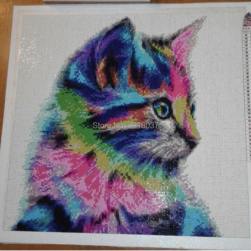 5D Diy Diamond Painting Cross Stitch Naked Girl Riding A Cat Diamond Embroidery Full Round Mosaic Decoration Resin Stickers Kits in Diamond Painting Cross Stitch from Home Garden