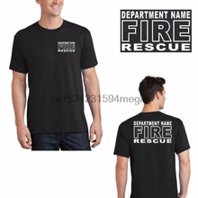 29bae2b7 Custom Fire Rescue Front & Back Your Department Name T Shirt No Minimum  Order(China