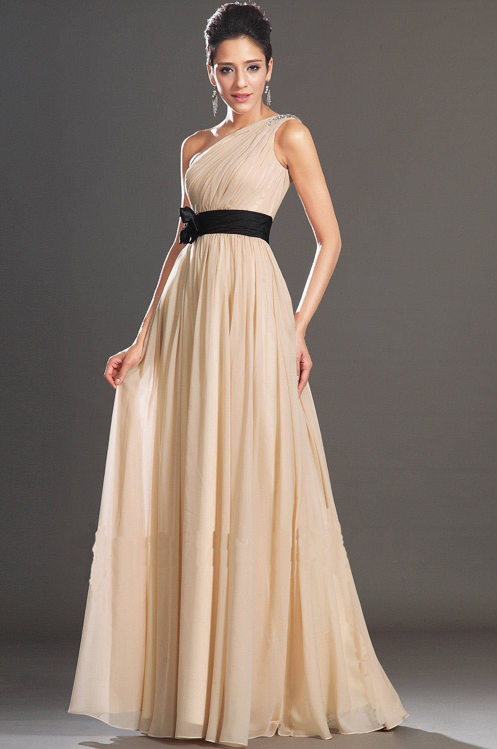 Compare prices on one shoulder prom dresses under 100 online abendkleid cheap chiffon one shoulder flower bridesmaid dresses under 100 floor length prom party gowns women ombrellifo Image collections