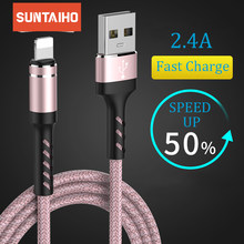 Suntaiho usb kabel voor iphone kabel Xs max Xr X 8 7 6 plus 6s 5 s plus ipad mini snel opladen kabels mobiele telefoon charger cord(China)