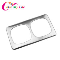 Car Styling Stainless Steel Water Cup Decorative Trim Cover Car Rear Water Cup Protection Sticker For