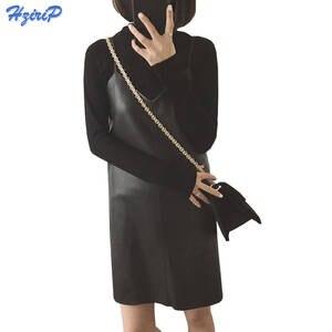 58c87d2c6a9 HziriP Women Sexy Winter Autumn Black Sundress Plus Size