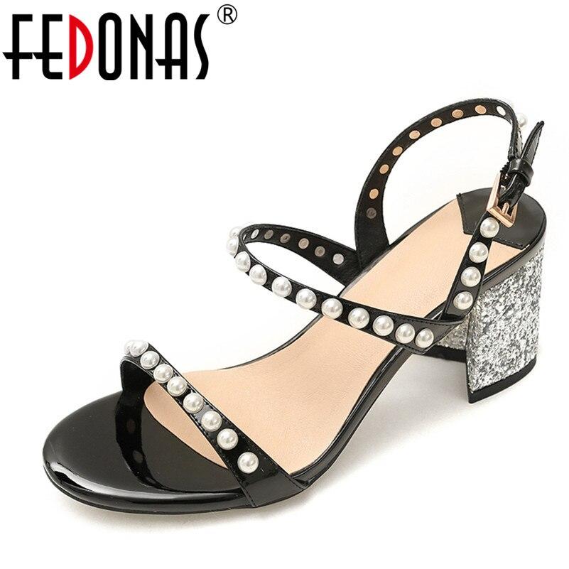 f020cac852 FEDONAS Ladies Shoes 2018 Summer Gladiator Beading Sandals Women ...